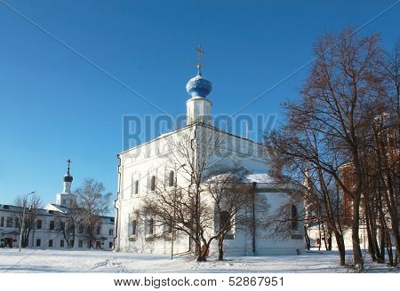 Church With A Blue Dome