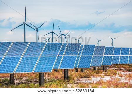 Solar And Wind Power In Coastal Saline And Alkaline Land