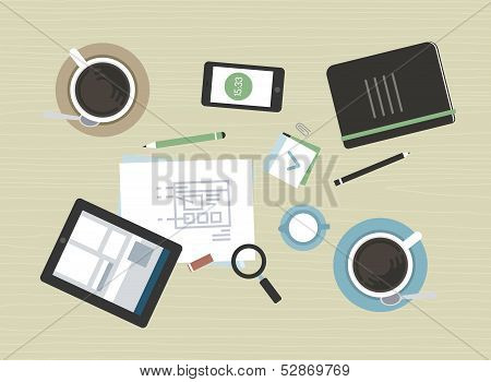 Flat Illustration Of Modern Business Meeting
