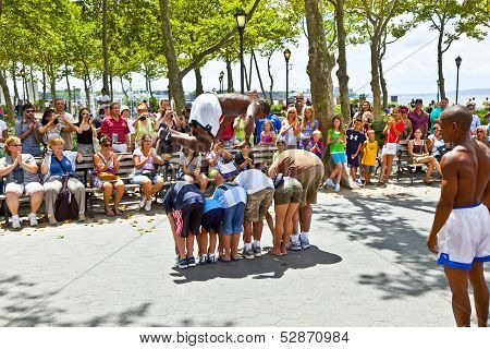 Street Performance In Battery Park