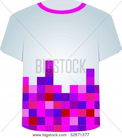 T Shirt Template- Pixel art