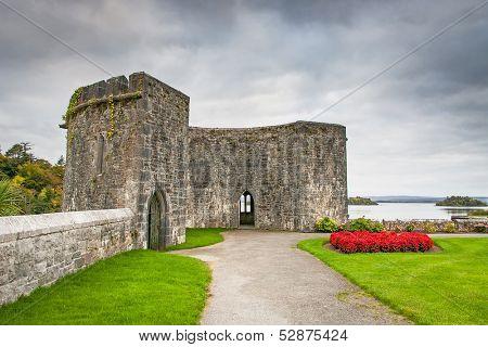 Gardens of Ashford castle in Ireland