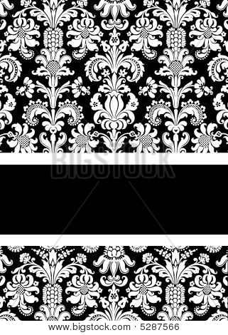 White And Black Damask