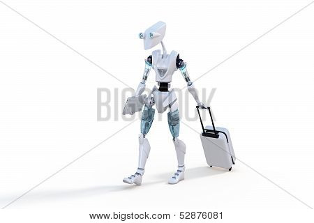 Robot With Roller Suitcase