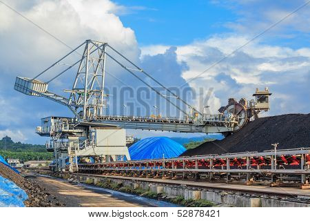 Reclaimer In Stockpile Of Coal At Mae Mo Mine