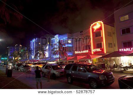 Night View At Ocean Drive