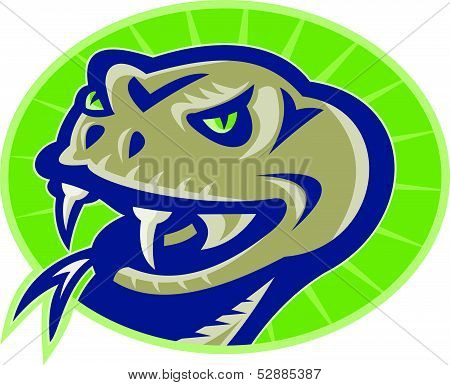 Viper Snake Serpent Mascot Head