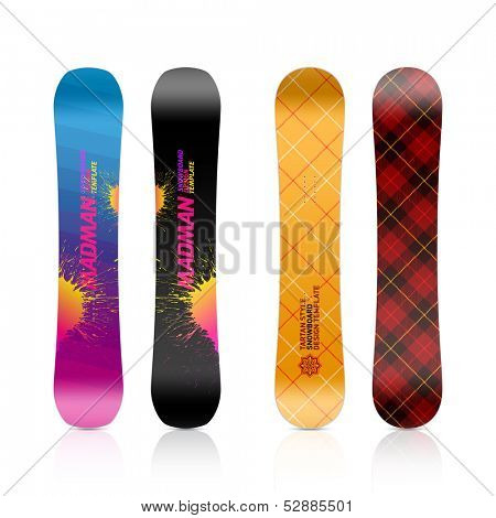 Snowboard design. Vector.