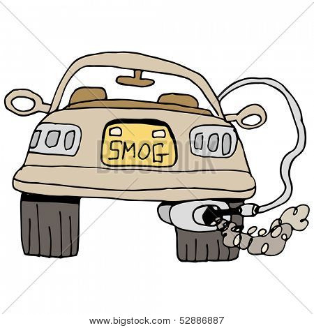 An image of a car getting a smog check.