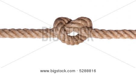 Rope Knot Such A Heart Isolated On White Background
