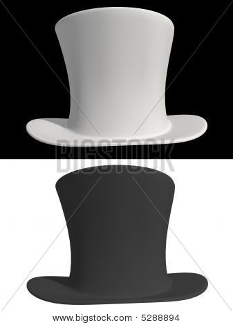 Black And White Top Hat