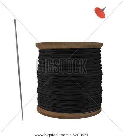 Needle, Spool And Tack
