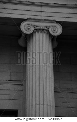 Neoclassical Column With Capital