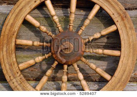 Closeup Spinning Wheel