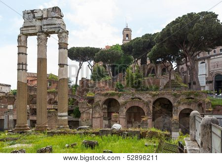 Forum Ruins Three Columns
