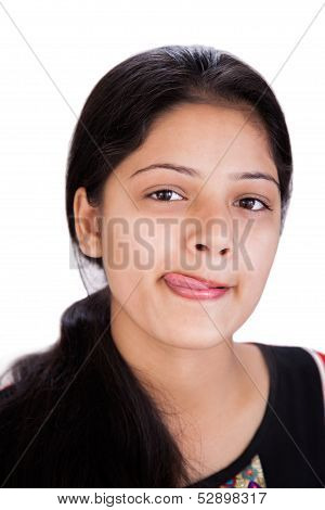 Attractive Indian girl doing fun