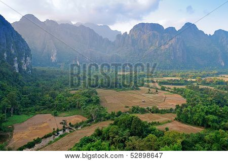 The Beautiful Landscape. Vang Vieng. Laos.