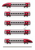 image of high-speed train  - Creative abstract railroad travel and railway tourism transportation industrial concept - JPG