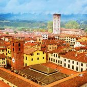 View of Lucca, old town in Tuscany. Italy.