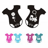 picture of bodysuit  - New born baby bodysuit icons  - JPG