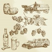 stock photo of keg  - beer collection - JPG
