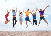 foto of jumping  - summer - JPG