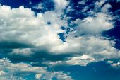 pic of stratus  - Blue sky with stratus clouds in spring day - JPG