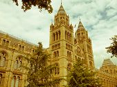 stock photo of kensington  - Vintage look The Natural History Museum on Exhibition Road South Kensington London England UK - JPG