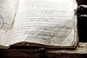 picture of conscript  - the document of soldier of World War II times at windowsill - JPG