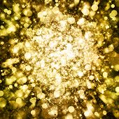 stock photo of cosmic  - Gold sparkle glitter background - JPG