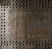 pic of battleship  - Metal background with rivets - JPG