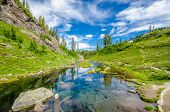picture of lp  - Majestic mountain lake in Canada - JPG