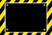 Striped Caution Hazard Sign