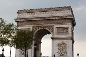 picture of charles de gaulle  - Arc de Triomphe in Paris France shot from the Champs Elysees - JPG