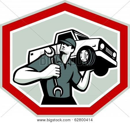 Automotive Mechanic Carrying Pick-up Truck