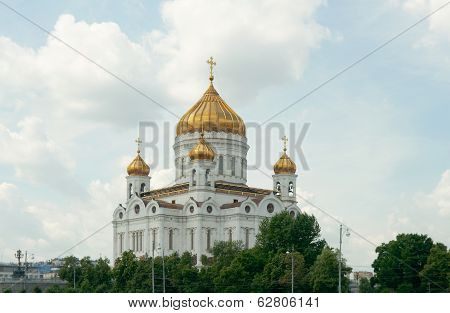 Cathedral Of Christ The Saviour, View From Moscow River (moscow, Russia)
