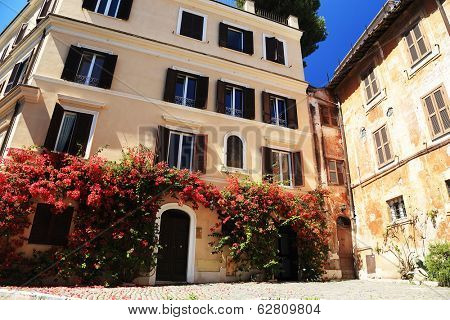 Architectural detail in Rome, Italy, Europe
