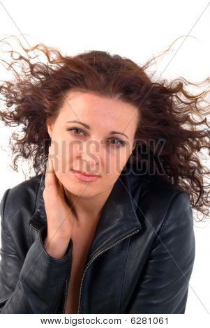 Supernatural Young Woman Portrait. Isolated On White Background.