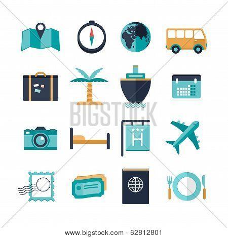 vector modern travel icons