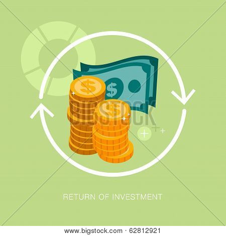 vector modern return of investment concept illustration