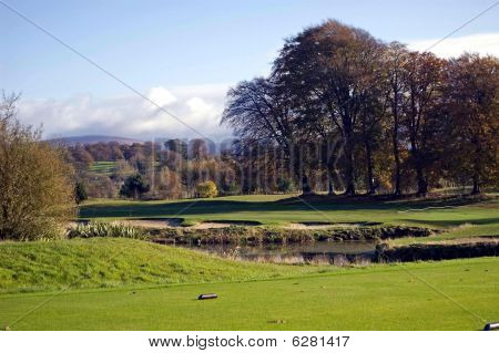 winter on a golf course
