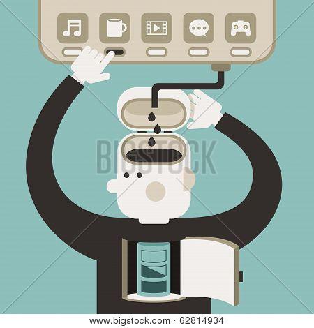 Flat Design Illustration Concept Of Break Time