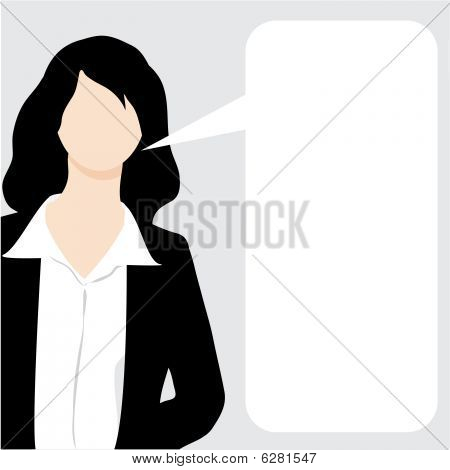 Vector explaining Business Frau illustration
