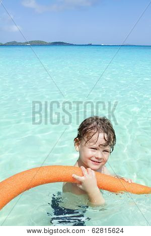 Child In Tropical Ocean, Pool