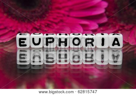 Euphoria Text With Flowers