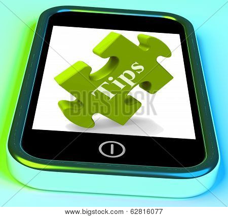 Tips Smartphone Means Online Hints And Suggestions