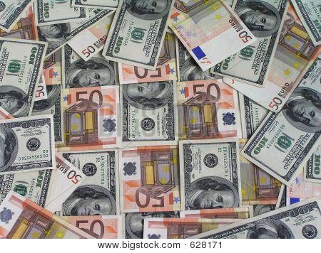 Euro-dollar Background