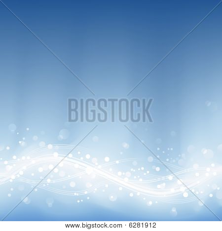 Pale blue defocused lights, light dots