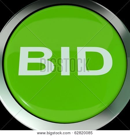 Bid Button Shows Online Auction Or Bidding