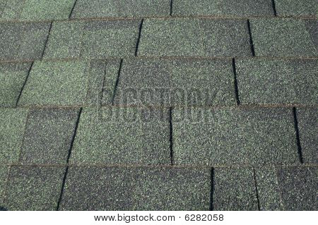 Green Asphalt Shingles